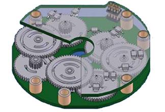 Оптический узел в абсолютном многооборотном энкодере