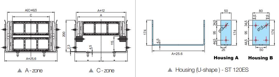 Гибкие кабель-каналы, кабель-цепи и системы защиты кабеля - чертеж