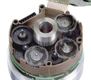 Шестерни оптического узла в абсолютном многооборотном энкодере