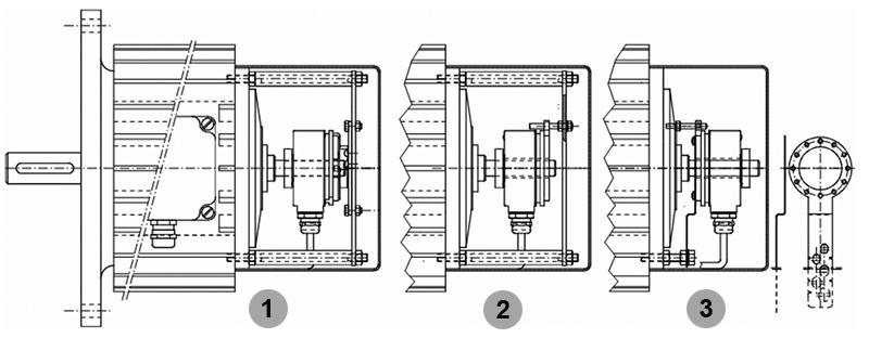 Варианты установки энкодера