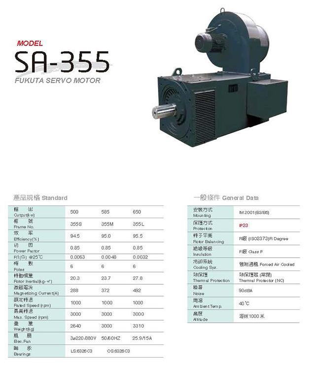 Сервоприводы Fukuta серия SA-355 - описание