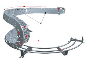 Гибкий кабель канал (огибающий тип кабель-каналов для антропоморфных роботов)
