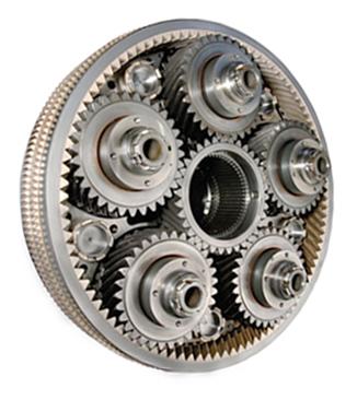 Редуктор устройство - косозубая цилиндрическая передача с внутренним зацеплением