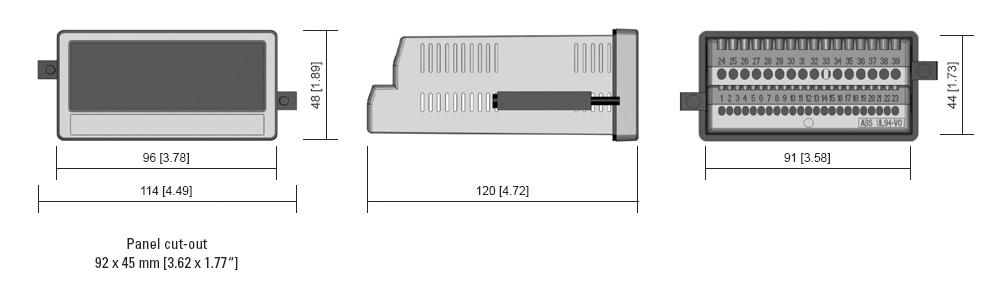 Сенсорные дисплеи Kuebler 57xT размеры