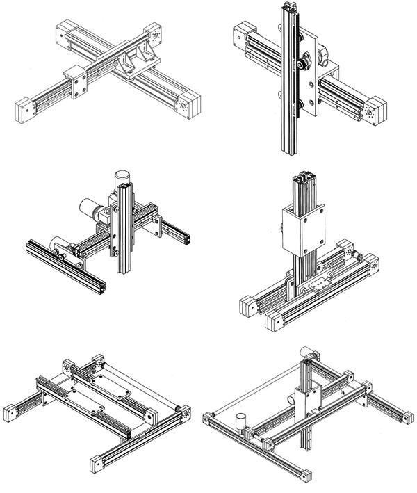 Различные типы систем модулей линейных перемещений