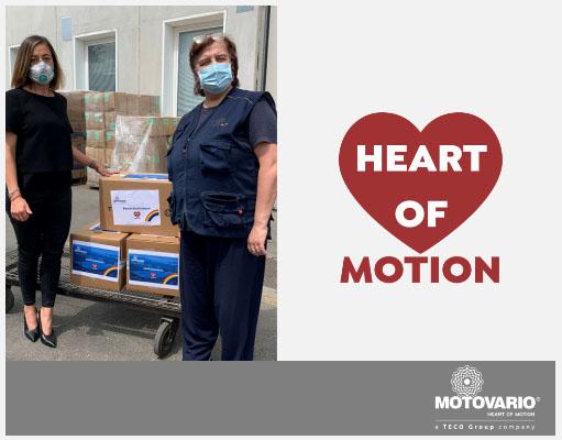 Мотоварио пожертвовала 2500шт хирургических масок в больницу города Баджовары