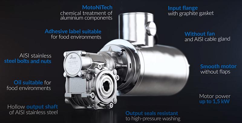 Серия мотор-редукторов CLEAN DUTY от компании Motovario