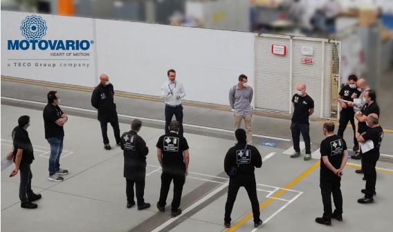 Компания Motovario внимательно относилась к здоровью и безопасности своих сотрудников.