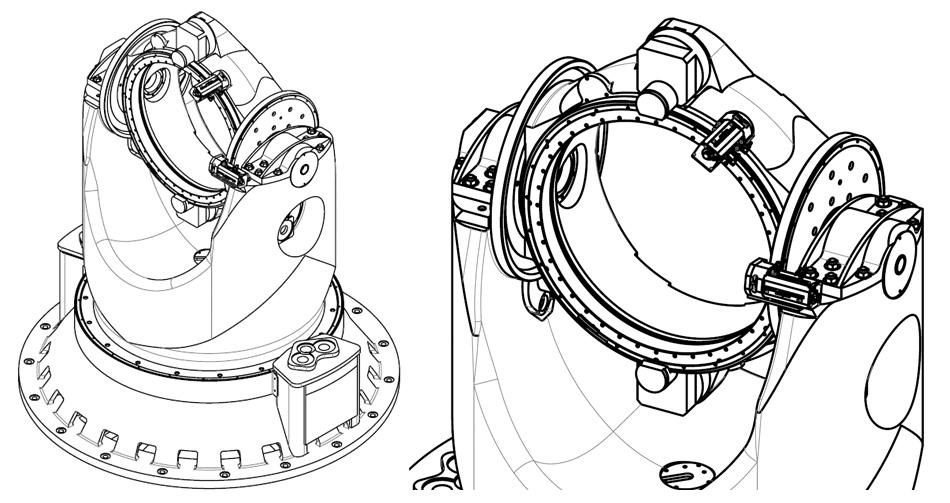 "ОПУ 3ПШК-1 - чертеж стенда (Разработка и производство компании ""Сервотехника"", http://www.servotechnica.ru) - динамический моделирующий стенд"