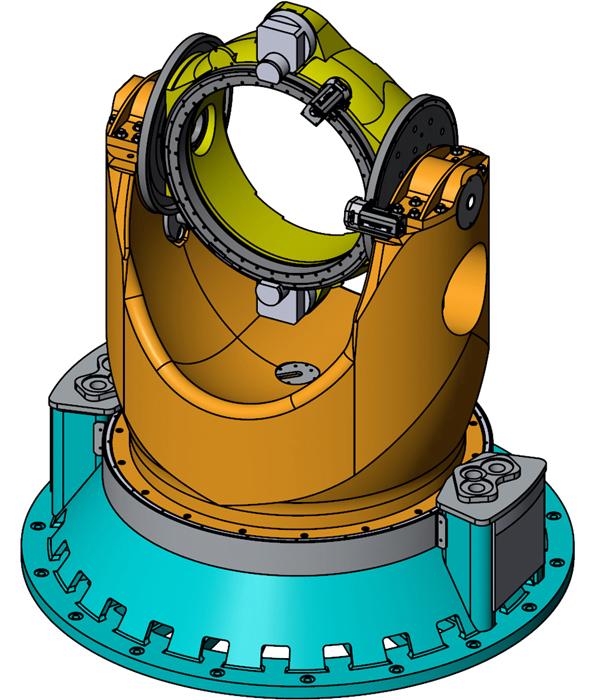 """ОПУ 3ПШК-1 с имитатором нагрузки (Модернизировано ООО """"Сервотехника"""", http://www.servotechnica.ru) - динамический моделирующий стенд"""