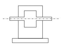 Редукторы с приставными лапами или плитой на уровне плоскости основания корпуса (потолочная или стеновая установка редуктора)