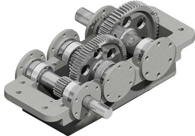 Редуктор устройство - прямозубая цилиндрическая передача