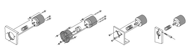 Типы установки и монтажа энкодеров с прямым валом